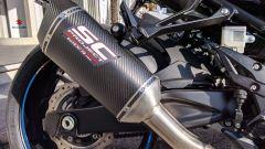 Suzuki GSX-S 750 Yugen Carbon: lo scarico in carbonio SC Project