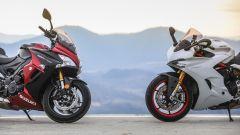 Suzuki GSX-S1000F e Ducati Supersport S: dettaglio dei cupolini