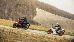 Suzuki GSX-S1000F e Ducati Supersport S durante le riprese video