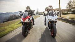 Suzuki GSX-S1000F e Ducati Supersport S testa a testa