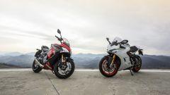 Suzuki GSX-S1000F e Ducati Supersport S: vista 3/4 anteriore