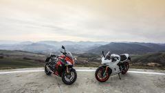 Suzuki GSX-S1000F e Ducati Supersport S viste dall'alto