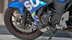 Suzuki GSX250R: dettaglio del freno anteriore a margherita