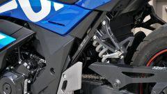 Suzuki GSX250R: dettaglio della pedana passeggero