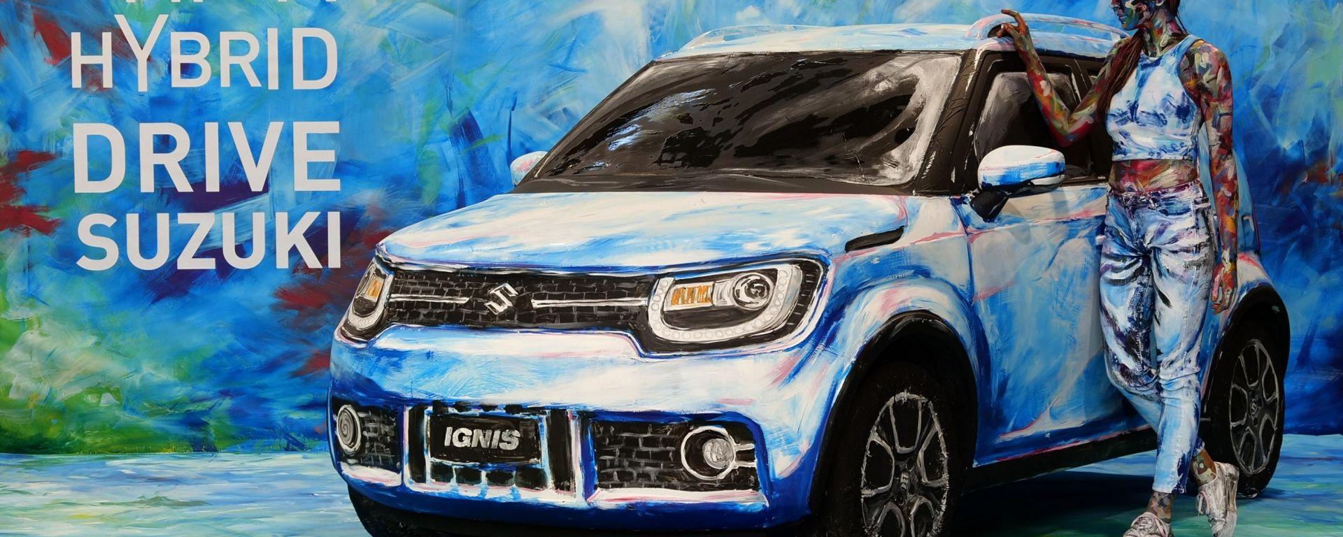 Suzuki Hybrid Art: la Ignis diventa arte al Parco Valentino