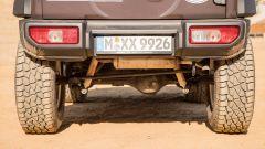 Suzuki Jimny 2019 Paris-Dakar: dettaglio dell'assetto rialzato