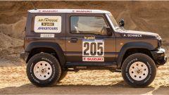 Suzuki Jimny 2019 Paris-Dakar: vista laterale