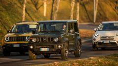 Suzuki Jimny, Jeep Renegade, Fiat 500X: un momento del test