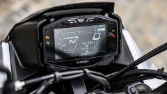 Suzuki Katana 2019: la strumentazione LCD a sfondo nero