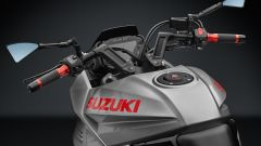 Suzuki Katana: Accessory Line by Rizoma. Vista anteriore manubrio