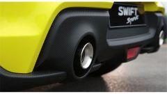 Suzuki Swift e Swift Sport Hybrid: il doppio tubo di scarico della Sport