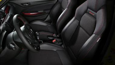 Suzuki Swift Sport Hybrid: i sedili sportivi