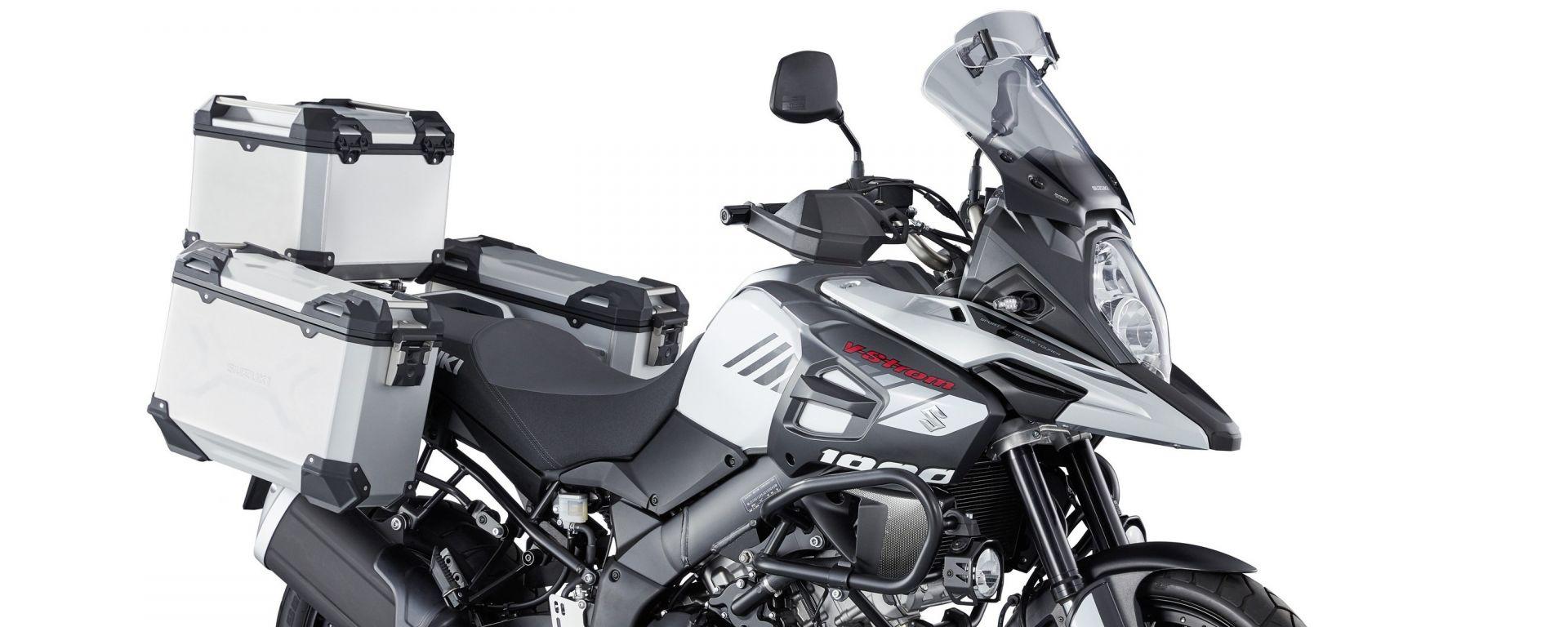 Suzuki V-Strom 1000: tris di valigie in alluminio
