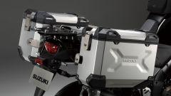 Suzuki V-Strom 1050 XT Pro, le valigie di serie in alluminio
