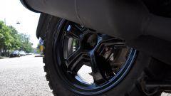 Sym Crox 125 CBS Euro 4, cerchio posteriore con gomma tassellata