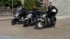 Honda SH 300i, Kymco People S 300, Sym HD 300 a confronto in video - Immagine: 1