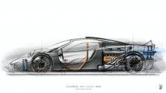T.50 Gordon Murray: un disegno in trasparenza della supercar