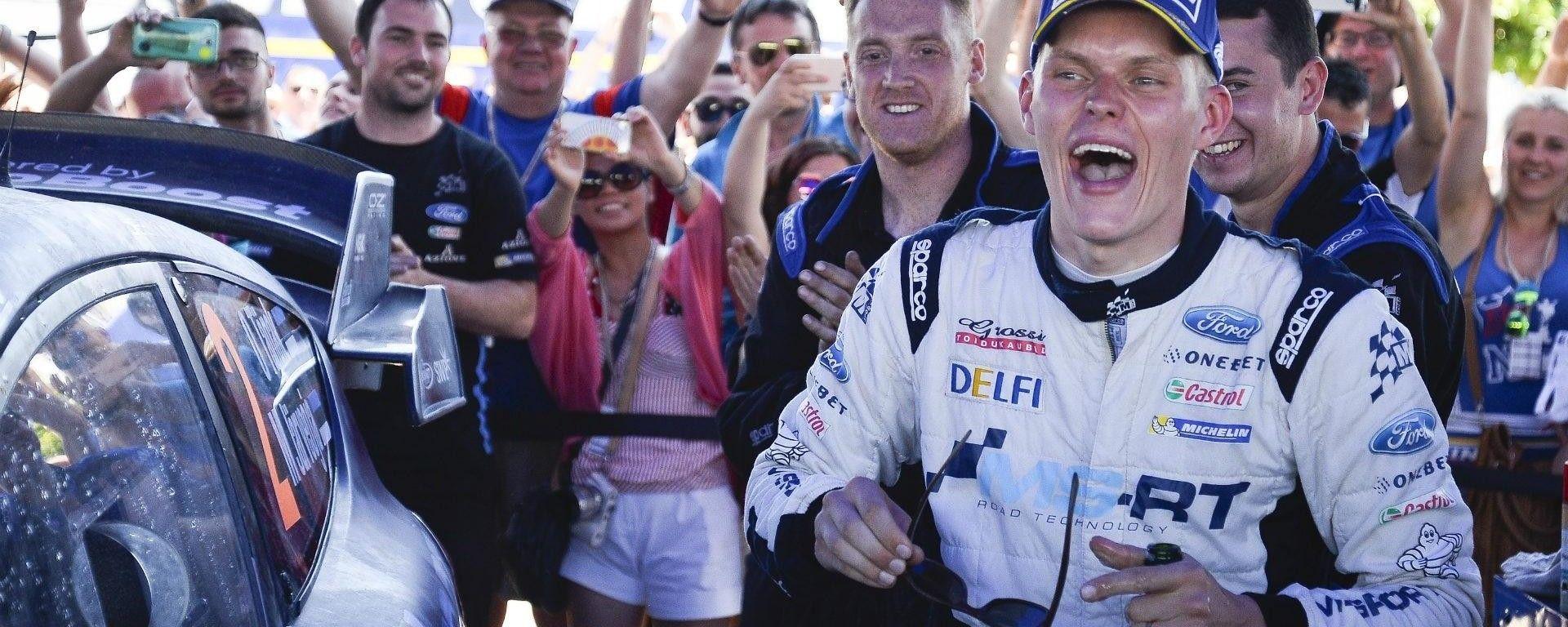 Tanak e la sua Ford Fiesta M-Sport trionfano nel Rally di Sardegna 2017 - WRC 2017