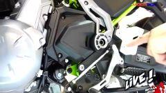 Tanti cambiamenti per la Z650: a livello ciclistico, con il telaio completamente inedito e a livello elettroni