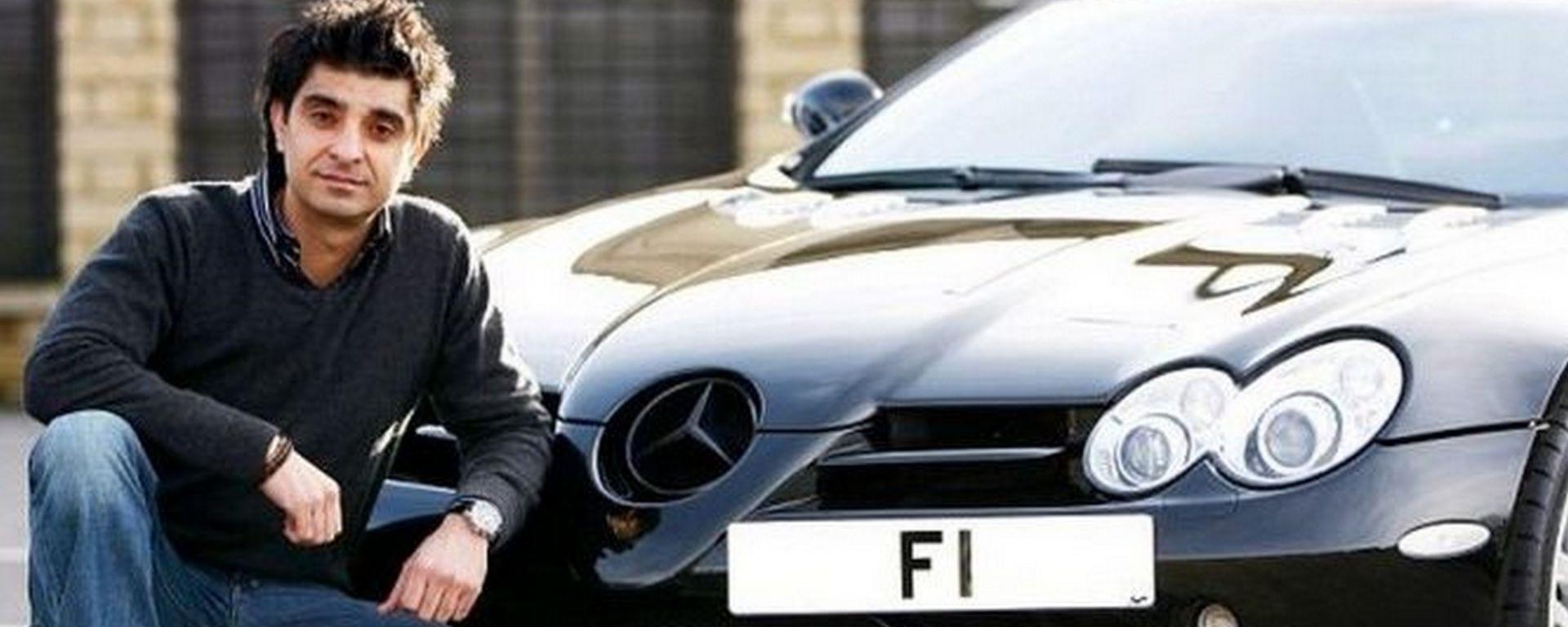 20 milioni di euro per la targa di un'auto