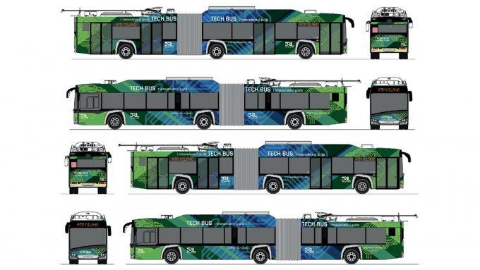 Tech Bus, i disegni del primo autobus connesso