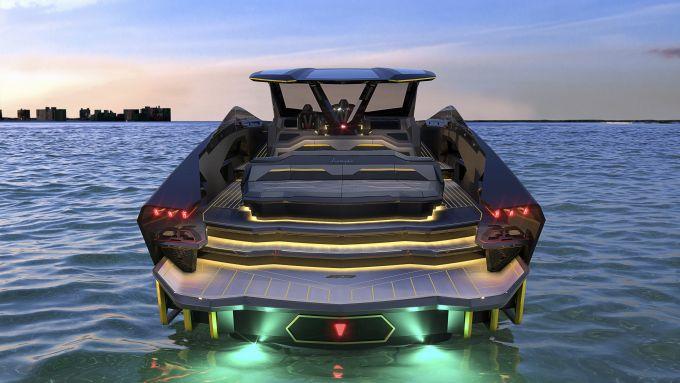 Tecnomar for Lamborghini 63: il posteriore richiama molto la supercar di Sant'Agata Bolognese