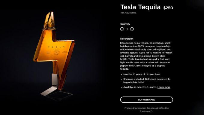 Tequila by Tesla: la pagina del sito ufficiale