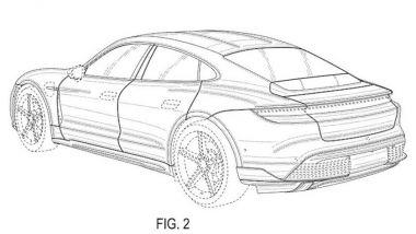 Terza variante Porsche Taycan: sul web i disegni brevettati in America