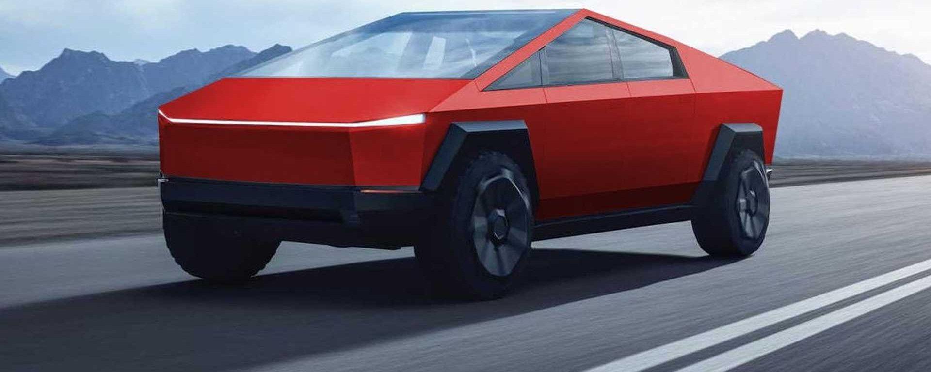Tesla Cybertruck, come sarebbe rossa?