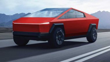 Tesla Cybertruck, come starebbe rossa?