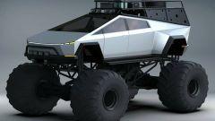 Tesla Cybertruck diventa Monster Truck in questo rendering