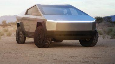 Tesla Cybertruck, il frontale