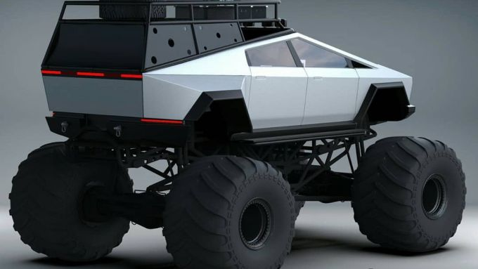 Tesla Cybertruck in versione Monster Truck