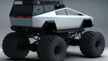 Tesla Cybertruck in versione Monster Truck