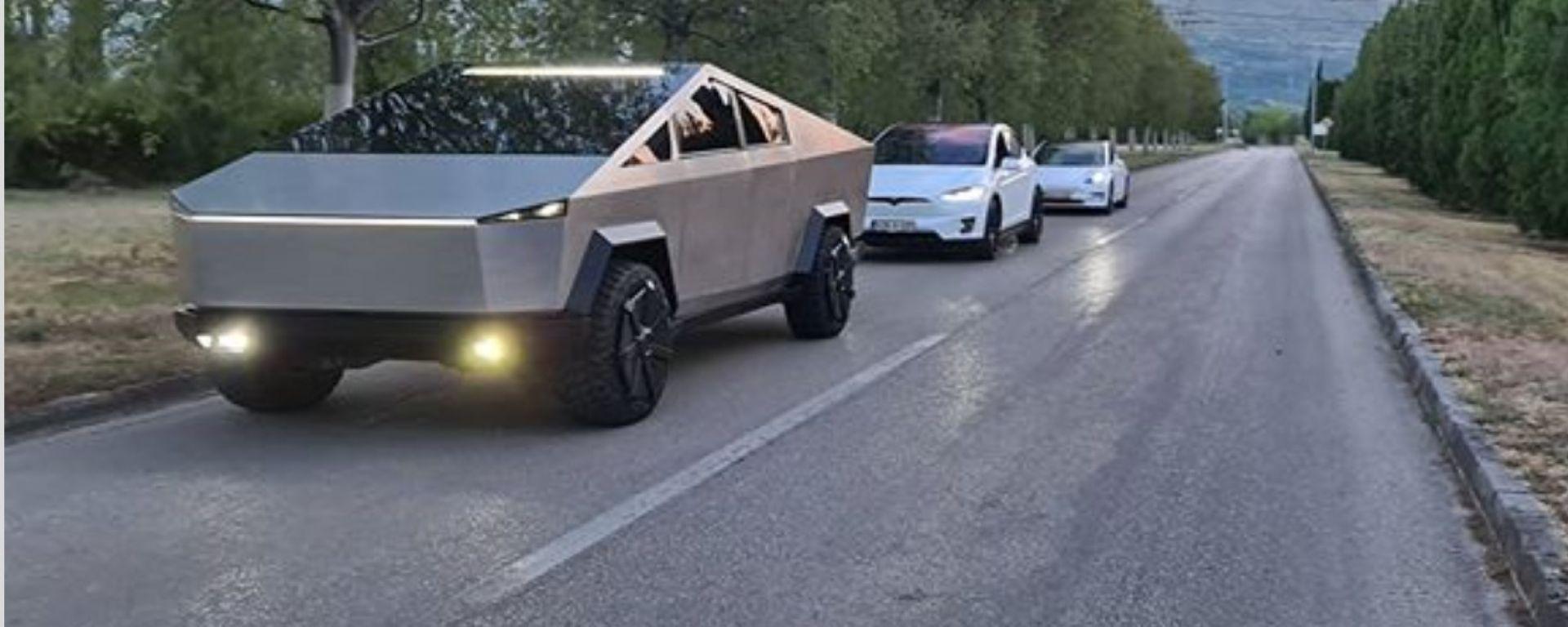 Tesla Cybertruck replica per le strade della Bosnia