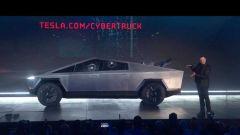 Tesla Cybertruck, un momento della cerimonia della world premiere
