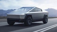 Tesla Cybertruck: visuale di 3/4 anteriore