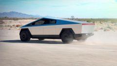 Tesla Cybertruck: visuale di 3/4 posteriore