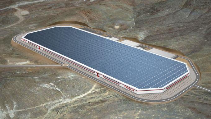Tesla Gigafactory per la fabbricazione di batterie