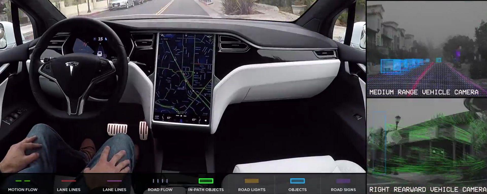 Tesla lancia Tesla Vision e pensiona il radar