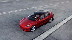Tesla Model 3, dall'alto