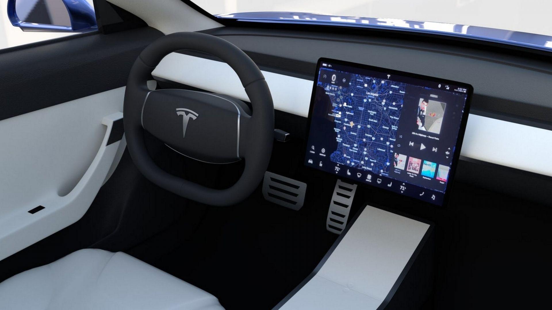 Tesla Model S Interior >> Tesla Model 3, prime consegne, prime lamentele. Manca cielo in Alcantara - MotorBox