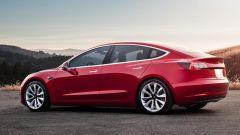 Tesla Model 3, gli esterni