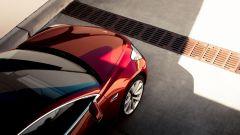 Tesla Model 3, il cofano visto dall'alto