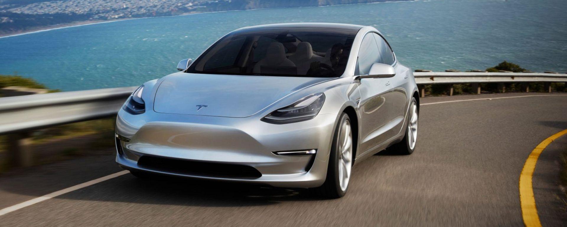 Tesla Model 3: la berlina elettrica della Casa americana