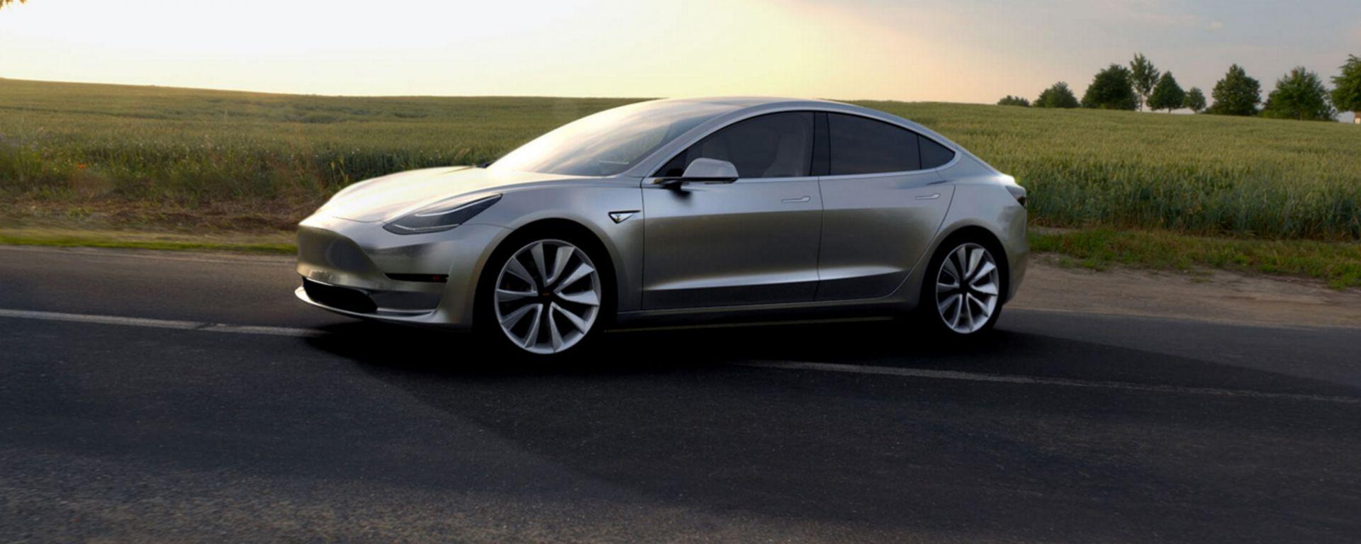 Tesla Model 3: la berlina elettrica di Elon Musk arriverà a luglio 2017