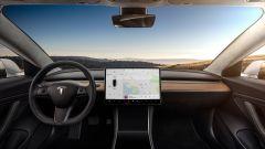 Tesla Model 3: lo schermo dell'infotainment