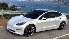 Tesla Model 3: vista 3/4 anteriore