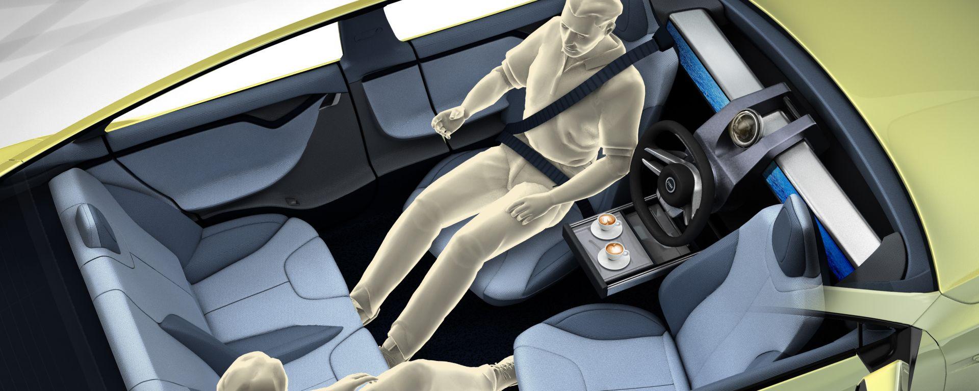 Tesla Model S, ai sedili scorrevoli pensò già Rinspeed nel 2014