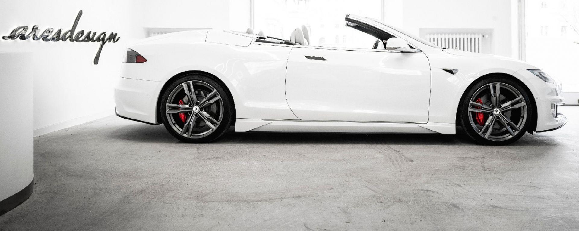 Tesla Model S Cabrio by ARES Design